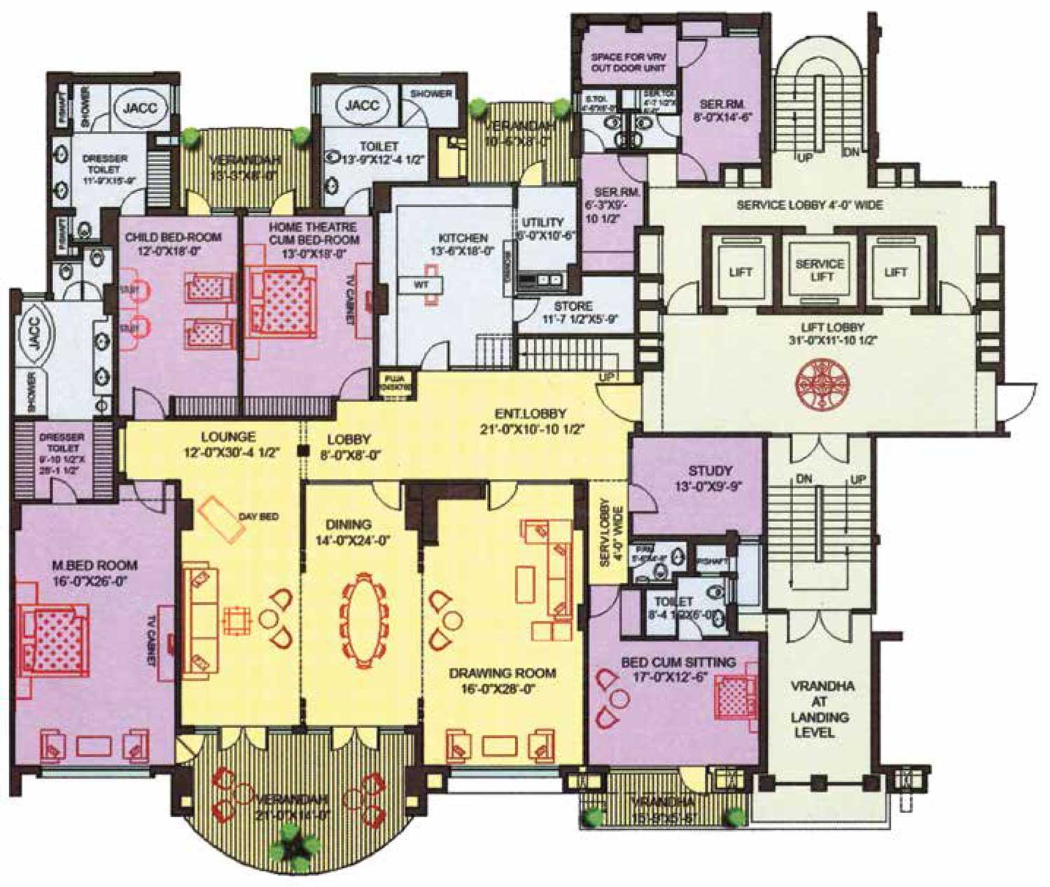 Terrific pent house plans pictures best inspiration home - Ambience home design ...